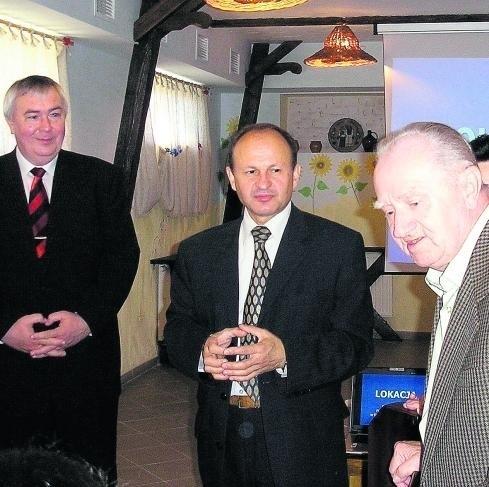 Burmistrz ukraińskiego Żydaczowa Michał Szczujko (w środku) gościł niedawno w Czeladzi