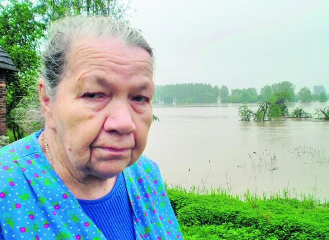 Zofia Chlebowska z Podłęża modli się, by przestało padać