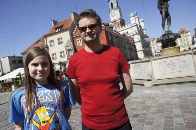 Tomasz Raczkiewicz z córką Olą postanowili, że sobotnie przedpołudnie spędzą smakując lody w poznańskich kawiarniach, a w niedzielę wybiorą się na zwiedzanie.