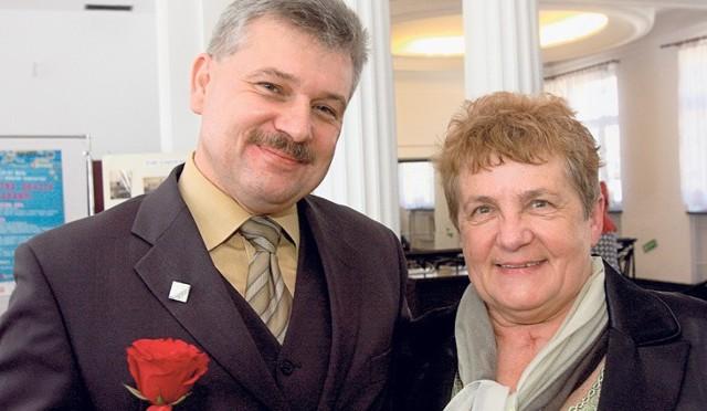 Wyróżnieni: Cezary Pawlak i Łucja Robakowa z TOnSC