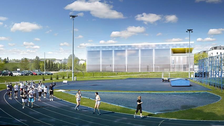 Wizualizacja hali sportowej AWF-u.
