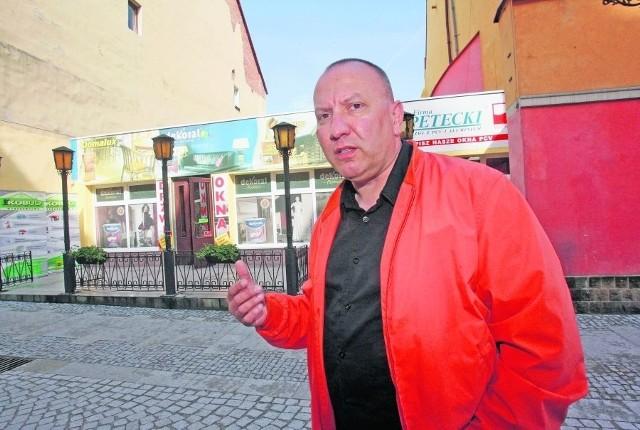 Grzegorz Baran planował postawić w tym miejscu stylową kamieniczkę