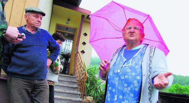 Zofia Froszęga z Łaśnicy będzie musiała wyprowadzić się ze swojego zniszczonego przez osuwisko domu