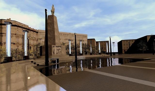 O przesunięciu pomnika Tadeusza Kościuszki na placu Wolności w Łodzi dyskutować będą w środę łódzcy radni.