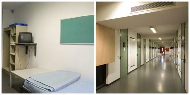 UN Detention Unit, Outside The Hague, Holandia W tym więzieniu panuje doskonały porządek. Nic dziwnego, to placówka zarządzana przez ONZ. Każda cela ma własną toaletę i miejsce do mycia. Więźniowie mają też dostęp do siłowni, mogą samodzielnie gotować. W każdej komórce znajduje się komputer, z którego można korzystać.