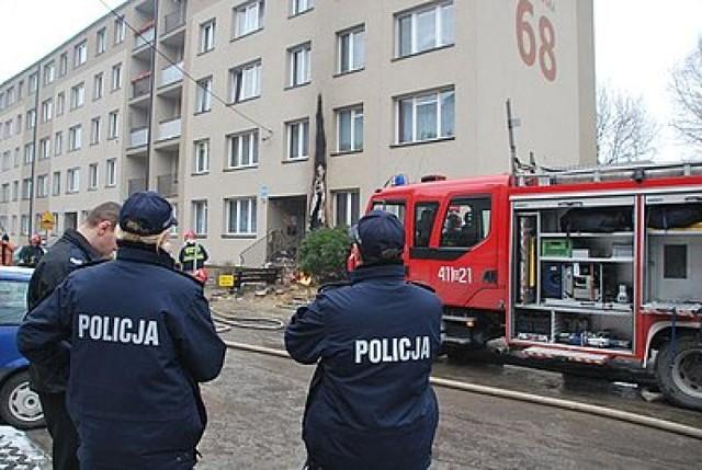 Do wybuchu doszło w poniedziałek (16 stycznia 2012) w bloku przy ...