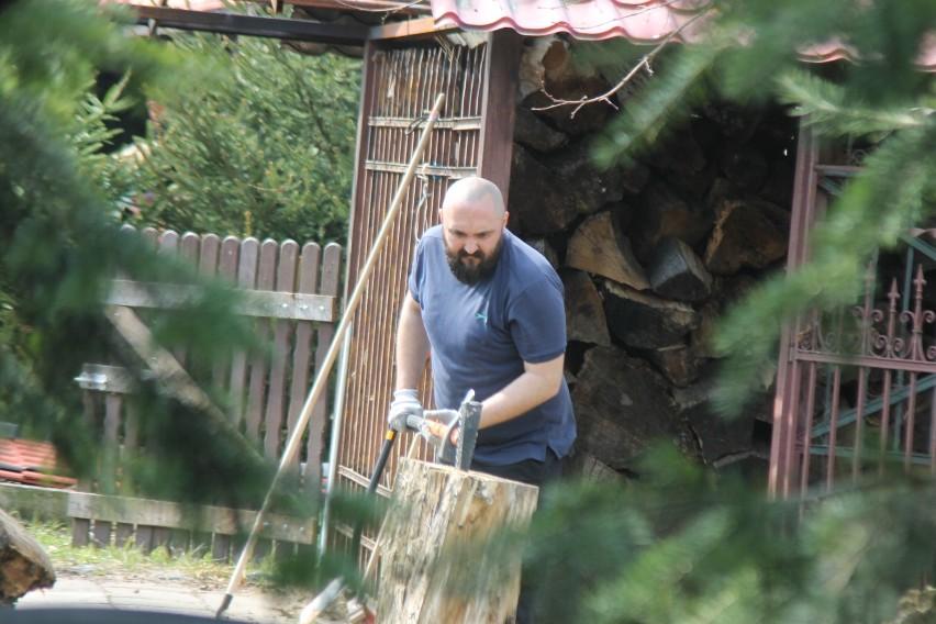 Prace porządkowe na strzelnicy Kurkowego Bractwa Strzeleckiego w Krotoszynie [ZDJĘCIA]