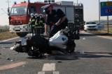 Wypadek na drodze Legnica - Złotoryja, ranna motocyklistka