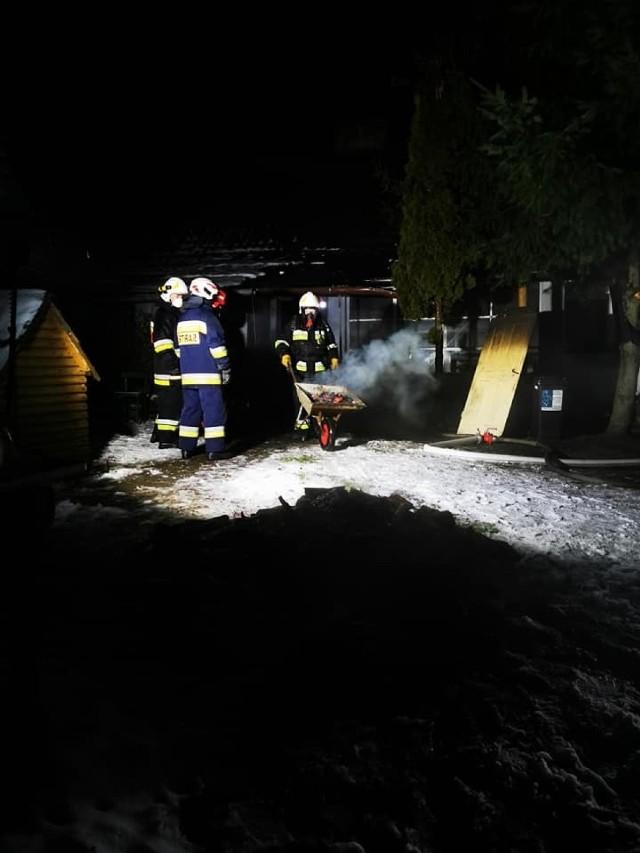 Pożar w Gostchorzu wybuchł w nocy z poniedziałku na wtorek (18-19 stycznia).