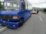 Ptaszkowa: zderzenie samochodów i busa [ZDJĘCIA]