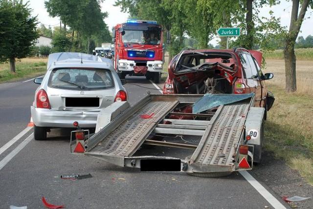 Do zderzenia czterech pojazdów doszło w miejscowości Żakowola Radzyńska
