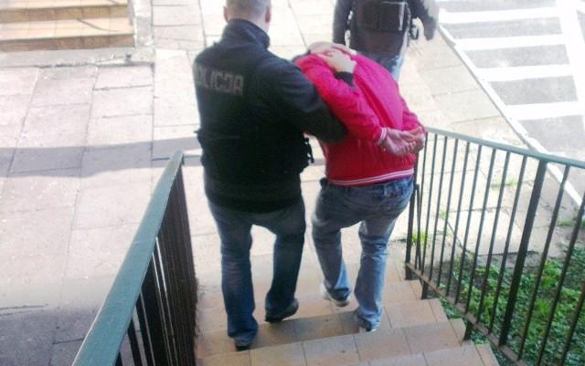 Krzysztof M. został zatrzymany wczoraj - tj. 30 października br. - o godzinie 9.00 przy ulicy Skrzydlatej w Elblągu. W mieszkaniu, które zajmował wraz z konkubiną i dzieckiem, funkcjonariusze zabezpieczyli ponad 300 gram marihuany i 60 gram amfetaminy. Narkotyki były porcjowane i pakowane przez podejrzanego w woreczki foliowe.