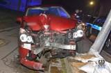 Pijana wałbrzyszanka spowodowała wypadek. Kobieta skasowała aż dwie latarnie!