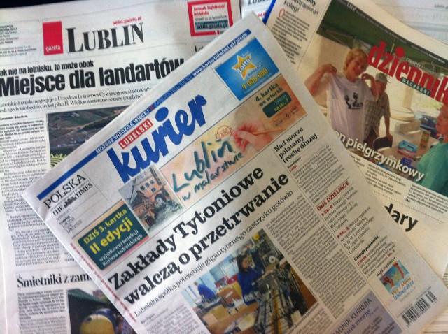 Przegląd lubelskie prasy: Kurier Lubelski, Dziennik Wschodni, Gazeta Wyborcza