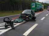 Wypadek na wysokości Solca Kujawskiego. Na DK 10 zderzyły się trzy samochody [zdjęcia]