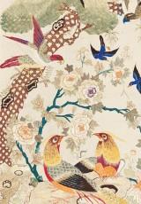 """Wystawa """"Motyle, nietoperze, żurawie i kwiaty - hafciarstwo na Dalekim Wschodzie"""""""