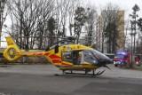 Śmiertelne potrącenie rowerzystki w Tychach na DK 44. Nie pomogła interwencja helikoptera LPR