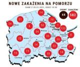 Zakażeni koronawirusem w woj. pomorskim. Wykresy online
