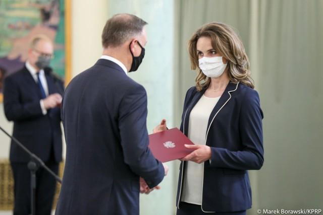 Pałac Prezydencki. Uroczystość wręczenia nominacji sędziowskich przez prezydenta Andrzeja Dudę odbyła się 7 lipca