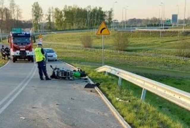 Zdjęcie z wypadku w Lubczu.