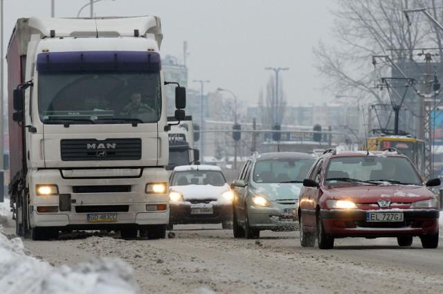 Odśnieżanie ulic Łodzi