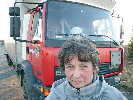 Jak Agnieszka Kantor sprzeda ciężarówkę, to dostanie sto złotych pomocy. Fot. M. Trzcionka