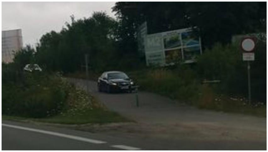 Niektórzy kierowcy omijają stanie w korku ze Swarzewa do Pucka poprzez ścieżkę rowerową!