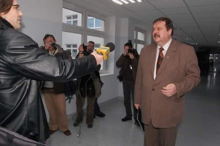 Stanisław Skaja, starosta chojnicki nie chciał wpuścić dziennikarzy na konwent z burmistrzami i wójtami. Fot. Maria Sowisło