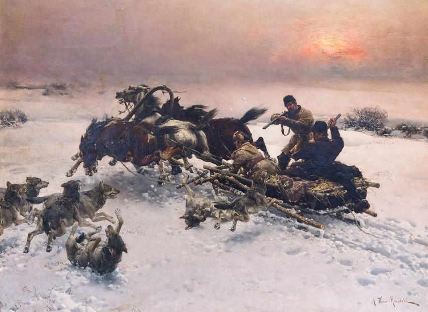 Alfred Wierusz-Kowalski, Napad wilków, 1885-1890– Uważam,...