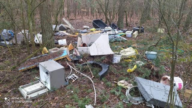 Dzikie wysypisko śmieci odkryto pod Sycynem - tuż przy granicy powiatu szamotulskiego