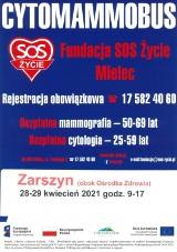 Bezpłatna mammografia i cytologia w gminie Zarszyn. Nie czekaj! Zgłoś się!