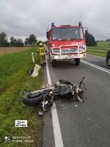 Wypadek motocyklisty pod Pawonkowem. Lądował śmigłowiec LPR