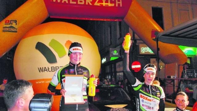 Przyjemną niespodziankę w Wałbrzychu sprawiła Natalia Frączek, która kiedyś trenowała kolarstwo w tutejszym Górniku