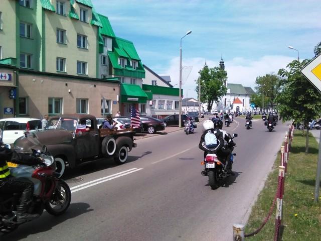 Parada motocykli w Bielsku Podlaskim