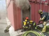 Jastrzębscy strażacy walczyli z pożarem. Temperatura ognia sięgnęła 1000 stopni! Na szczęście to tylko ćwiczenia