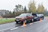 Poranna kolizja trzech samochodów w Szymanowie. Jedna osoba zabrana do szpitala