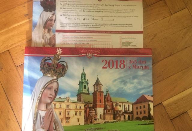 Fundacja im. Piotra Skargi rozsyła kalendarze. Nie za darmo, bo wraz z poleceniem zapłaty