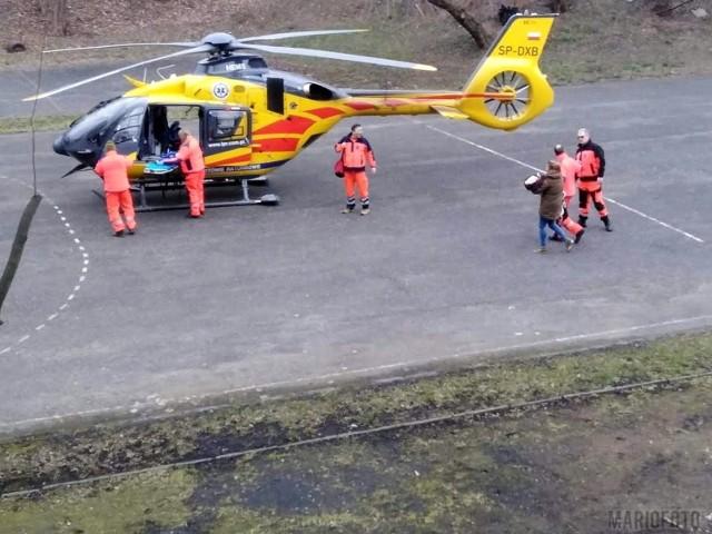 Śmigłowiec LPR zabrał dziecko do Uniwersyteckiego Szpitala Klinicznego w Opolu