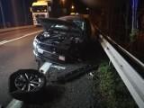 Wypadek na DK8. Jedna osoba została poszkodowana (ZDJĘCIA)