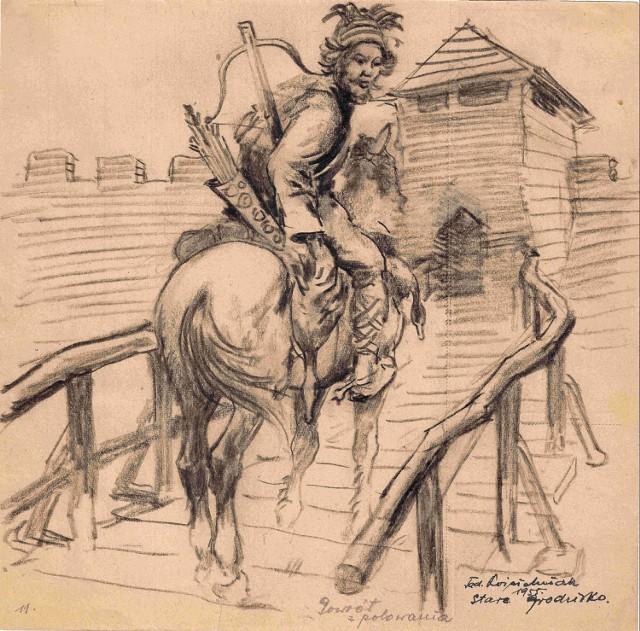 Szkice Tadeusza Kościelniaka odnalezione i uratowane przez kaliskich bibliotekarzy