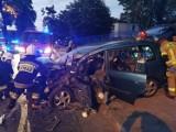 Cztery osoby poszkodowane w dwóch wypadkach nocnych na terenie powiatu [ZDJĘCIA]