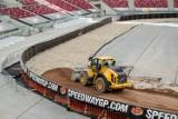 Żużel opanował Stadion Narodowy w Warszawie. W sobotę odbędzie się na nim Grand Prix Polski