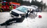 Zderzenie ciężarówki i osobówki na drodze krajowej 22 między Czerskiem a Łęgiem. Poszkodowanych sześć osób, trzy osoby w szpitalu