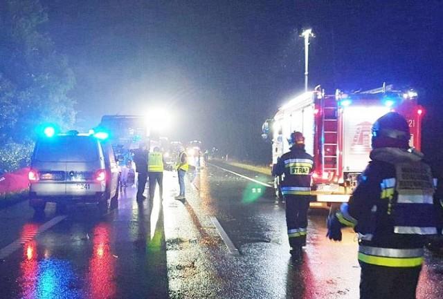 Do wypadku doszło z soboty na niedzielę na trasie DK88 między Kleszczowem a Gliwicami.