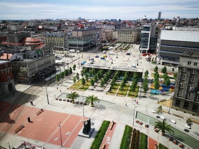 Pawilon na rynku w Katowicach