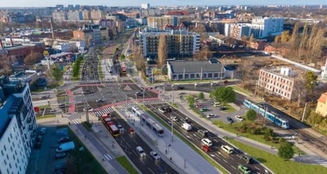 Trasa tramwajowa na Popowice.