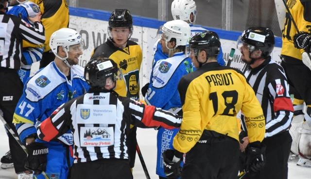 To właśnie o drugi mecz w Katowicach ćwierćfinałowej serii pomiędzy GKS i Re-Plast Unią Oświęcim, wygranym przez katowiczan 5:0 trwa ostry regulaminowy spór.