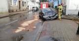 Groźna kolizja w Słupsku. BMW uderzyło w budynek na ul. Deotymy [ZDJĘCIA]