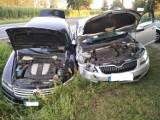 Zderzenie dwóch samochodów na trasie wojewódzkiej w Przyłęku [FOTO]