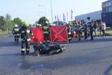 Kościan. Motocyklista zderzył się z osobowym audi [FOTO]